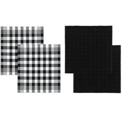 DDDDD Geschirrtuch Block, (Set, 4-tlg), Combiset: