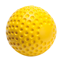 Schaumstoff-Softball, Gelb, 10 cm, Schaumstoff