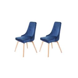 MCW Esszimmerstuhl MCW-B44-2 2er-Set, Inklusive Fußbodenschoner, 50er Jahre Design blau
