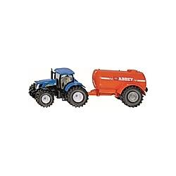 SIKU 1945 Traktor mit Ein-Achs-Güllefass 1:50