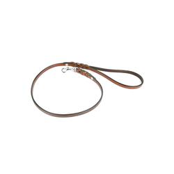 Monkimau Hundeleine Kurzführer Hundeleine aus echt Leder geflochten, Leder (Packung) braun