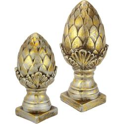 I.GE.A. Dekofigur Keramik-Zapfen, 2er Set