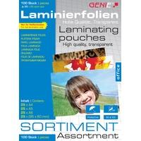 Genie Laminiertaschen je 25 Stück A4/A5/A6/Visitenkarten 95x60mm