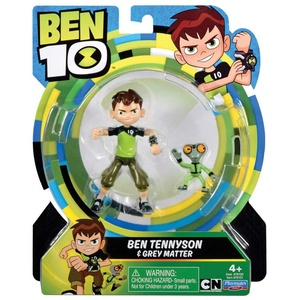 Ben 10 BEN00210 Ben10 Actionfiguren 13cm Ben+Graue Eminenz (GreyMatter) Spielfiguren