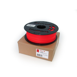 Peach PLA Filament für 3D Drucker,  fluorescent rot, 3.0mm, 1kg