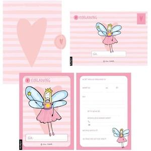 12 Einladungskarten Geburtstag Mädchen (Feen). Handgemachte Einladungskarten Kindergeburtstag incl. 12 liebevollen Hand designten Briefumschlägen....