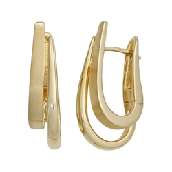 JOBO Paar Creolen, 585 Gold