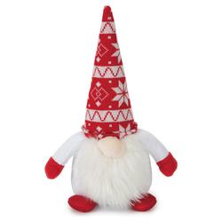 Beeztees Weihnachtsspielzeug Plüsch Santa rot-weiß