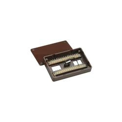 Aufputz-Löt-Verteiler 32-polig braun VdS-C