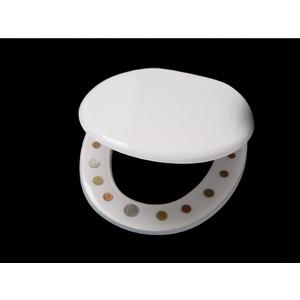 WC Sitz Klobrille mit DM Münzen, schwere hochwertige Ausführung