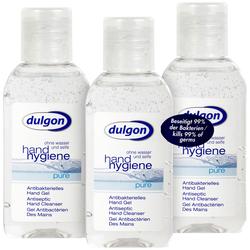 "3er-Set Antibakterielles Handgel ""Pure"", je 50 ml, auslaufsicher"