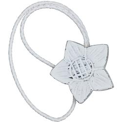 Raffhalter Florena, Gerster, Gardinen, (2-tlg), Magnethalter weiß