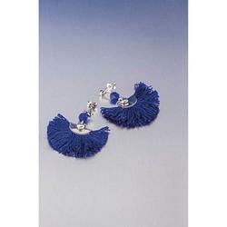 Rayher Schmuck-Basteln-Set Ohrringe Boho blau