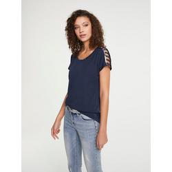 Shirt mit Cutouts blau 46