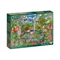 Falcon Puzzle 11295 Debbie Cook Tropical Conservatory, 1000 Puzzleteile bunt