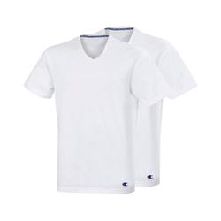 Champion Unterhemd Herren T-Shirt 2er Pack - V-Neck weiß