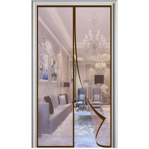 Magnet Fliegengitter Tür Automatisches Schließen Magnetische Adsorption Moskitonetz Tür, für Balkontür Wohnzimmer Terrassentür-Brown|| 90x235cm(35x92inch)