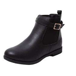 Zapato Stiefelette Mädchen Chelsea Stiefel Boots Winter Stiefel Biker Schuhe schwarz 30