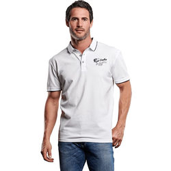 Besticktes Poloshirt Engbers Reinweiss