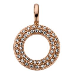 JOBO Kettenanhänger, 585 Roségold mit 46 Diamanten