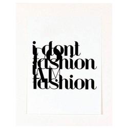 G&C Kunstdruck Fashion, 33/43 cm, gerahmt
