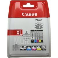 PGI-570XL pigmentschwarz + CLI-571 CMYK
