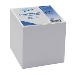 WEDO Zettelboxeinlage Ersatzpapier Zettelbox Weiß 700 Blatt 90x90mm