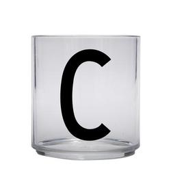 Design letters personalisiertes Trinkglas für Kinder Buchstabe C
