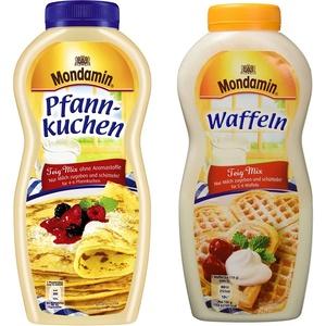 Mondamin Shaker Pfannkuchen 8er-Pack (8 x 198g) & Waffeln Teig-Mix Flasche für 5-6 Waffeln, 8er-Pack (8 x 230g)