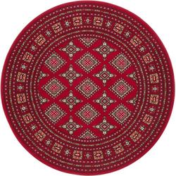 Teppich Sao Buchara, NOURISTAN, rund, Höhe 9 mm, Kurzflor, Orient-Optik rot