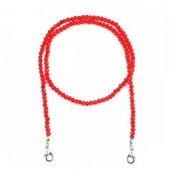 null Karat Kette ohne Anhänger Kristallglas (Maskenkette) rot
