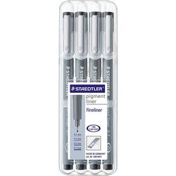 Staedtler 308 WP4 308 WP4 Fineliner 6 St./Pack. Schwarz 0.1 mm, 0.3 mm, 0.5 mm, 0.7mm 1St.