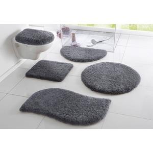 Badematte Merida my home, Höhe 32 mm, fußbodenheizungsgeeignet grau 2-tlg. Stand-WC Set