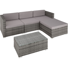 Tectake Florenz Rattan Lounge Variante 2 grau