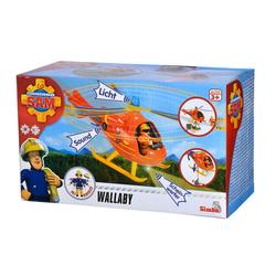 SIMBA Spielzeug-Hubschrauber Simba Sam Feuerwehrmann Hubschrauber Wallaby mit Figur