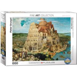 empireposter Puzzle Der Turmbau zu Babel von Pieter Bruegel - 1000 Teile Puzzle im Format 68x48 cm, Puzzleteile