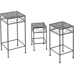 locker Blumentisch (3er-Set), Blumenhocker, aus Metall