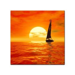 Bilderdepot24 Leinwandbild, Leinwandbild - Segelboot 80 cm x 80 cm