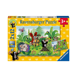 Ravensburger Puzzle Puzzle Gartenparty mit Freunden, 2 x12 Teile, Puzzleteile