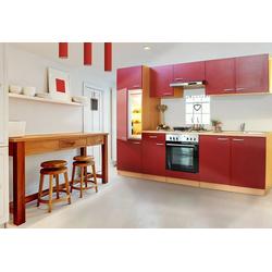 RESPEKTA Küchenzeile Basic, Breite 270 cm rot