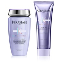 Kérastase Blond Absolu Bain Ultra Violet 250 ml + Cicaflash Fondant 250 ml Geschenkset