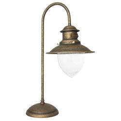 Licht-Erlebnisse Schreibtischlampe AL MARE Tischlampe Messing Antik Premium Bronze H:52cm Schreibtisch Büro