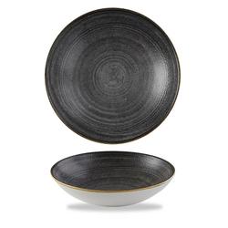12 x Schale rund 18,2cm STONECAST RAW Black