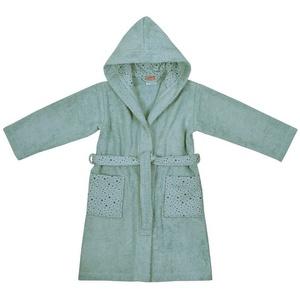 Damenbademantel Kinder-Bademantel, Sterne grau, 98/104, Wörner blau 110/116