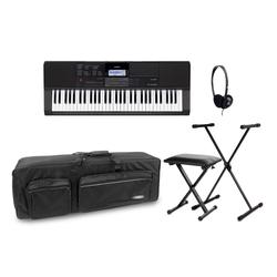 Casio CT-X700 Keyboard Set inkl. Keyboardständer, Kopfhörer, Bank & Tasche