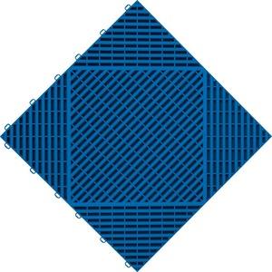 florco® Terrassenplatten classic, 40x40 cm, 6-St., Klickfliesen blau