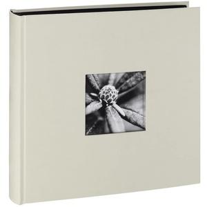 Hama Fotoalbum Jumbo 30x30 cm (Fotobuch mit 100 schwarzen Seiten, Hochzeitsalbum für 400 Fotos, Gästebuch zum Selbstgestalten und Einkleben) weiß