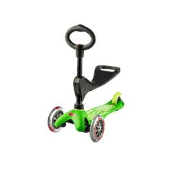 Micro Scooter Mini Micro 3in1 Deluxe grün, inkl. T-Stange Kickboardreifen - PU Reifen, Kickboardart - Kickboard  1-5 Jahre , Kickboardfarbe - Grün,