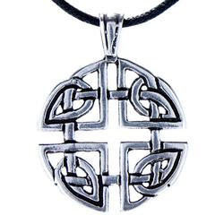 Kiss of Leather Kettenanhänger Keltischer keltisch Keltenknoten Knoten Anhänger 925 Silber