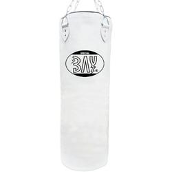 BAY-Sports Boxsack Sandsack 120 x 30 cm Canvas weiss ungefüllt groß